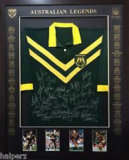 Blazed In Glory - Australian Legends - NRL Signed and Framed Jersey