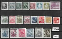 #6569 Small Mint Mint stamp group Czechoslovakia German occupation Hitler WWII