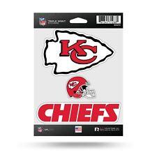 Kansas City Chiefs Triple Spirit Sticker Sheet Die Cut Decal New Full Color Logo