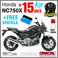 15 kit ADESIVI Rosso Bianco compatibile con Honda NC 750 X 2011 2015 NC750 moto