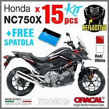 15x Kit NC750X HONDA 11-15 White/Red ADESIVI STICKERS PEGATINA AUTOCOLLANT