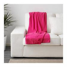 IKEA SKOGSKLOCKA Fleece Sofa Knee Bed Couch Throw Rug Blanket 130 x 170cm Cerise