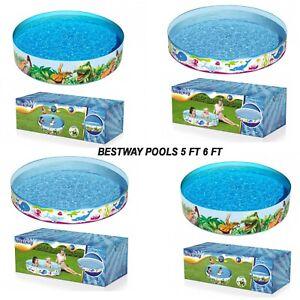 Kids Children Bestway Garden Snapset 4FT/5FT/6FT Rigid Swimming Pool