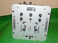 HOME MIX MIX-3 Professional Preamp Mixer Silver Grey 2-Channel Untested