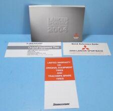 04 2004 Mitsubishi Lancer Sportback owners manual