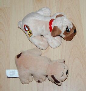 """2 Vintage Pound Puppies Mattel 5"""" & 6"""""""