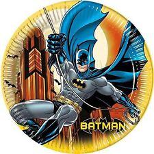 Batman Cumpleaños Platos De Papel Para Fiesta Grande 23cm 8pk