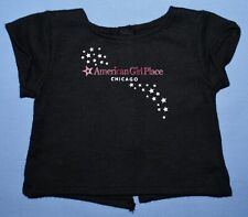 American Girl Doll Place CHICAGO BLACK TEE Star Logo Silver Foil