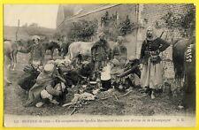"""cpa 1914 """"Cachet TRESOR et POSTE 90"""" Campement de SPAHIS MAROCAINS Cavaliers"""
