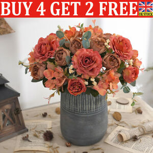 Artificial Peony Flowers Silk Fake Flower Wedding Party Home Decor Bouquet l8
