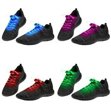 25 Mixed Colour Pairs LED Shoelaces Light Up Fibre Glow Flashing Luminous Party