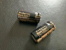 2 Black Gate F Series highest grade polar 1000uF 25V capacitor -  ultra rare!