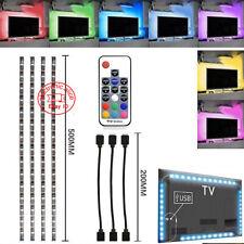 Tira de luz LED USB 5V TV Retroiluminación 5050 RGB sesgo de luz de color cambiante luz Kit