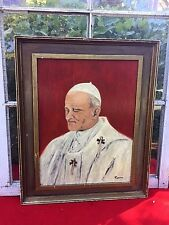 Rome Cathedral Italy Pope Vatican Catholic Sistine Chapel ORIGINAL OIL PAINTING