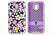 Anna Sui Flower Print Samsung Galaxy S5 Case Black and Purple