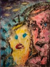 Modernist ABSTRACT Modern Painting FIGURE Expressionist ART MADONNA FOLTZ