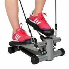 Air Stepper Climber Exercise Fitness Thigh Workout Machine Gym Trainer w/ Bands