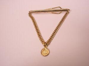 -CIT California Institute of Technology Vintage Pendant Chain ANSON Tie Bar Clip