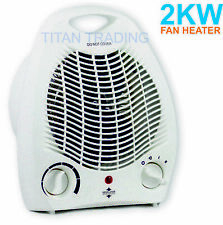 2kw 2000w Portable Electric Upright Adjustable Fan Heater Hot Cold Small Fast 🔥