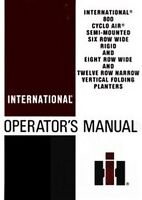 International 800 Cyclo Air Planter Operators Manual