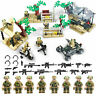 8pcs Military Soldier Figures Building Blocks set with WW2 Weapons Toys Bricks