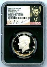 2020 S KENNEDY NGC PF70 UCAM PROOF HALF DOLLAR SIGNATURE LABEL FIRST RELEASES