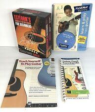 Esteban's Complete Guitar Course + Teach Yourself Guitar Books (Lot of 4)  B1