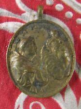 italie ancienne medaille religieuse bronze XIXe s madonna di moreto vierge ange