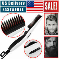 Electric Quick Heated Beard Pro Hair Straightener Curling Brush Styling Comb US