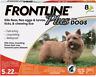 FRONTLINE PLUS FOR DOGS, FLEA & TICK TREATMENT, 5-22 LBS. 8 CT