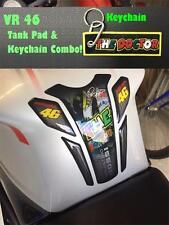 KTM ,ROYAL ENFIELD , YAMAHA , HONDA ,Rossi  VR46 tank pad & keychain Combo !!!
