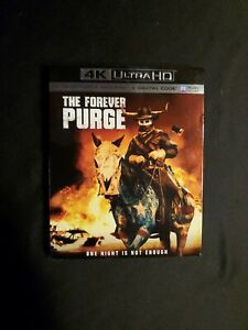 THE FOREVER PURGE 4K + BLU-RAY WITH SLIPCOVER NO DIGITAL, LOT D4.
