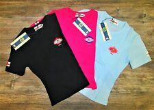 Tshirt ragazza/donna Lonsdale London cotone stampa fuxia celeste nero S M L top