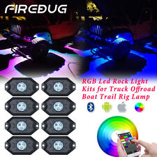 Firebug Jeep 8 Pods LED RGB Rock Light for Off Road Truck & Boat, Jeep Accessory