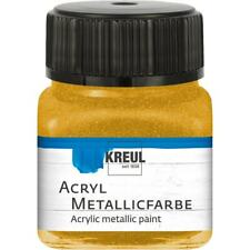 Kreul Acryl Metallic Acrylfarbe (17,25€/100ml) Bastelfarbe 20ml - 12 Farbtöne