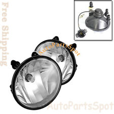 For 10-13 Chevy Camaro Fog Lights Clear Lens Front Driving Lamps Pair Chrome