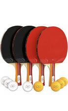 NIBIRU SPORT Ping Pong Paddle Set (4-Player Bundle), Pro Premium Rackets, Balls