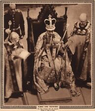 CORONATION 1937. Robed and crowned. Imperial mantle of Cloth of Gold 1937