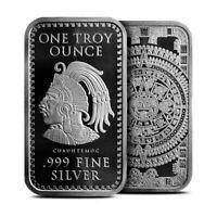 1 oz .999 Fine Silver Aztec Calendar Silver Bar - BACKORDER
