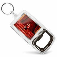 Acrylic Bottle Opener Keyring - Cabaret Dancer Stage Show Girl  #44494