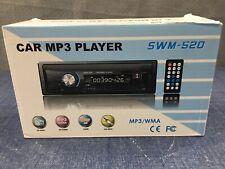 Car Stereo W Bluetooth Single Din In Dash AM FM Radio Audio Support USB SWM 520