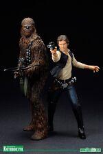 Star Wars 1/10 Han Solo & Chewbacca A New Hope ArtFX Statue Kotobukiya