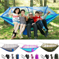 Portable Outdoor Travel Camping Hammock Hanging Sleeping Bed +Mosquito Net