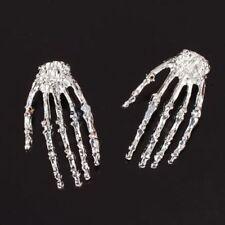 Fancy Dress Party Punk Rock Skeleton Skull Hand Ear Stud Earring