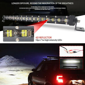 "20"" 180W Flood LED Work Light Slim Bar Car Truck Off Road Roof Driving Fog Lamp"