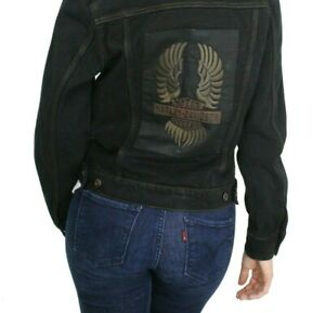 Harley-Davidson Willie G Winged WOMEN Motorcycle Riding Denim Jacket (XL XLarge)