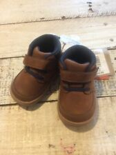 Surprize by Stride Rite Boys Shoes Size 3 Months Stage 2 First Walker Brown NWT