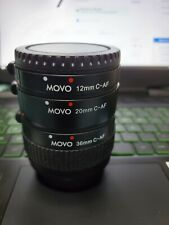 Movo Photo AF Macro Extension Tube for CANON EF mount 12mm, 20mm,36mm MINT