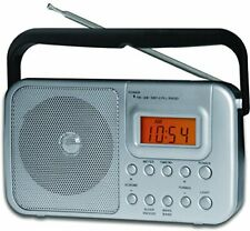 Coby Portable AM/FM Shortwave Radio Alarm Clock Digital Tuning Display Dual Volt