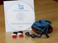 Sennheiser MX500 T DIY upgrade bass HiFi In-Ear Headphones Earbuds Braid cable